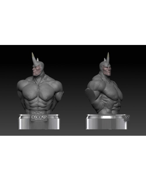 Rhino Bust - 3D Printable Model